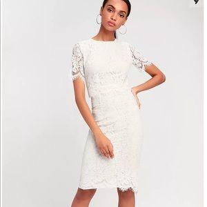 Lulus White Lace Dress ✨